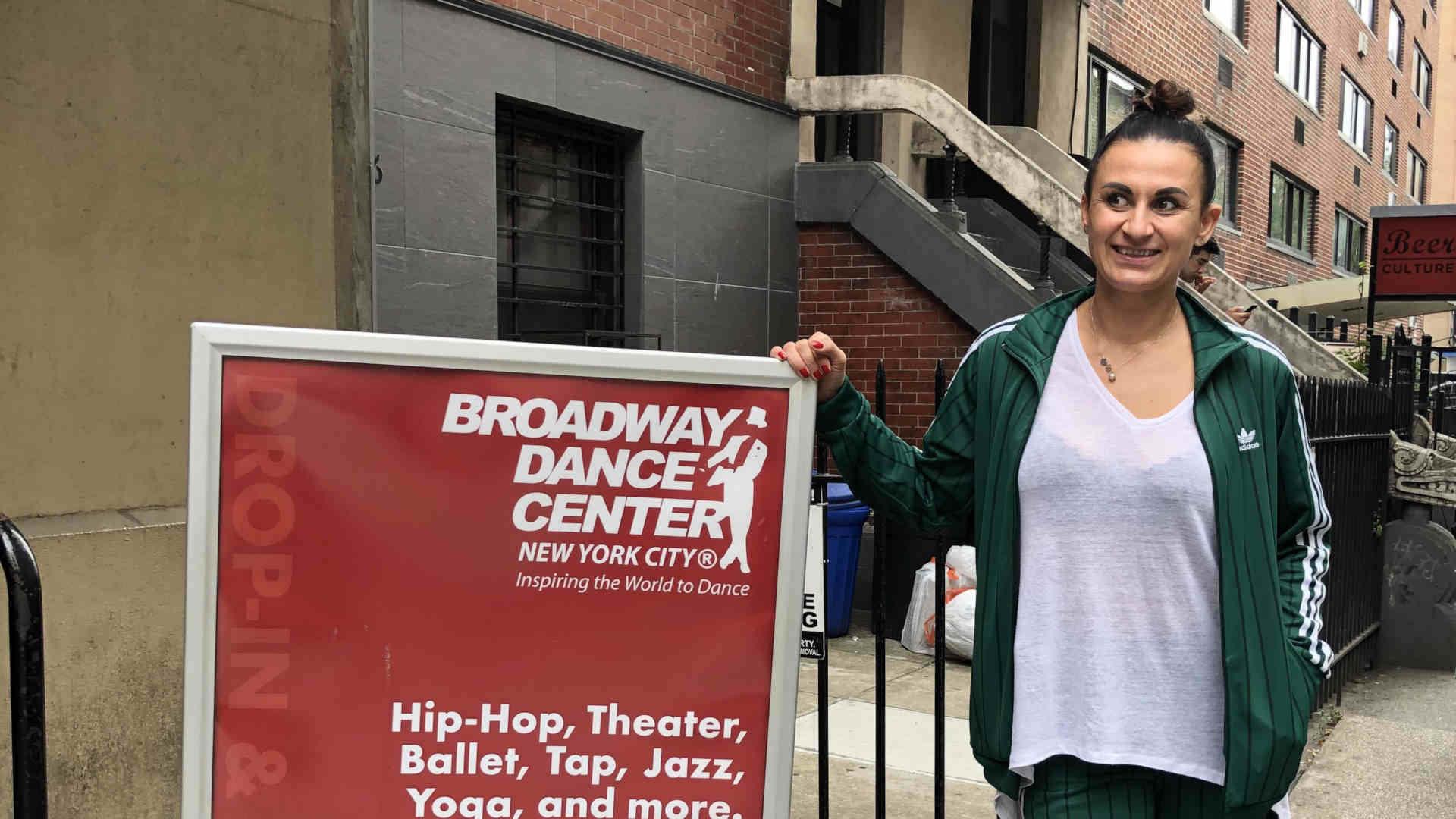 Trener Anna Kwitniewska uczestniczyła w warsztatach tanecznych na Broadway Dance Center.