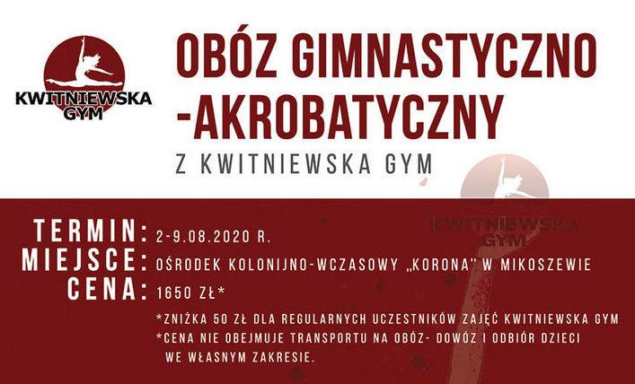 Ruszyły zapisy na obóz gimnastyczno-akrobatyczny Mikoszewo 2020